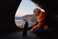 Travelers can take in the view from the rooftop pop-up tent.( Jason Henry  -  For The Washington Post )