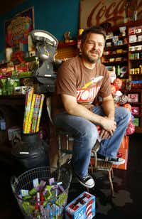 Atomic Candy owner Tim Loyd opened his store at 105 W. Hickory St. in Denton earlier this year.