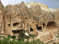 These cave houses  were lived in until 10 years ago, when the government required the residents to move out.(Beverly Burmeier)