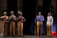 "T. Oliver Reid, Monroe Kent III, Cedric Neal, Everett Bradley, and Dulé Hill singing in ""Ain't It The Truth""( Matthew Murphy  -  Matthew Murphy )"
