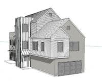 The three-story houses in the project will range from about 2,750 to 3,300 square feet. (Centre Living Homes)
