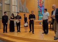 Winners of the Chamber Music International's 2014 Young Artists Solo and Chamber Music Competition are acknowledged at St. Barnabas Presbyterian Church in Richardson.Chamber Music International