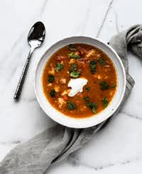 Chicken Pepper Cormeal Soup( Rebecca White )