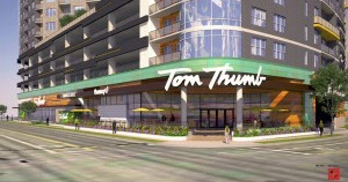 New apartment tower east of downtown Dallas will include Tom Thumb grocery  store | News | Dallas News
