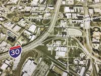 Interstate 30 is among the projects planners are weighing in an effort to improve aging highways in and around downtown Dallas.(Leona Allen - Staff)