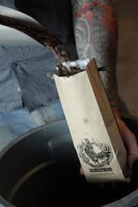 Full City Rooster coffee, 12-ounces start at $15. Full City Rooster Coffee Roasting Studio, 1810 S. Akard St., Dallas. fullcityrooster.com.