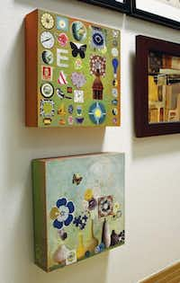 GESSO BOARD  (center) is great for collages (left) or for a new way to display treasured photos (right). Just spray-mount the images to the board.