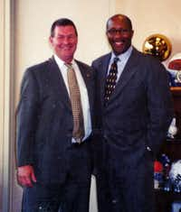 """Larry is everything good about what it means to be a peace officer, a public servant, a public employee,"" said former Mayor Ron Kirk.(File 2001)"