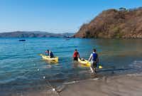 The warm Pacific waters lapping the peninsula's shores are good for kayaking and snorkeling.