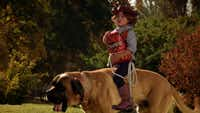 """Amber Gill of Ladera Ranch, Calif., spent $5,000 to make """"Cowboy Kid"""". She's one of five finalists in Doritos' """"Crash the Super Bowl"""" contest vying for a $1 million grand prize."""