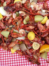 Crawfish Boil includes crawfish, corn, potatoes, onions, garlic and some citrus.( Kristen Massad )