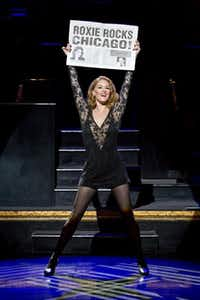 Dylis Croman, class of 1995, stars as Roxie in Chicago.(Jeremy Daniel)