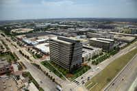 Developer Trammell Crow's new Legacy Tower in West Plano will be finished in August.(Steve Brown - Staff)