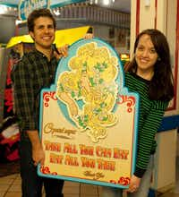 "The sign that hung behind the buffet at Crystal's will hang in Markus and Lilly Neubauer's kitchen, keeping their memories of what some called the ""hometown Disneyland"" fresh."