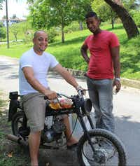 "At Las Terrazas, we saw a typical example of Cuban ingenuity: The ""gas tank"" on the motorbike is actually a converted soda bottle.( Joy Tipping  -  Staff )"