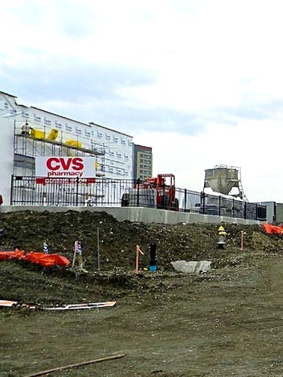 new cvs pharmacy store will be built next door to high rise victory