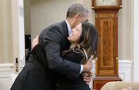 President Obama Meets With Dallas Nurse Nina Pham After Her Release From NIH (Getty Images )