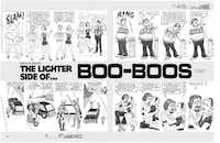 """The Lighter Side of Boo Boos"" A sample from MAD's Greatest Artists: Dave Berg -- Five Decades of ""The Lighter Side Of ..."""