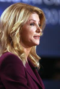 Democratic state Sen. Wendy Davis attended Harvard Law School, where she volunteered at a legal clinic for the poor.(Joel Martinez - The McAllen Monitor)