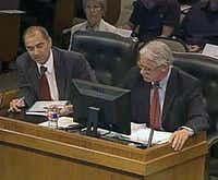 Budget director Gilbert Prado (left) and Jim Terry.
