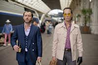 Dom Hemingway, starring Jude Law (left) and Richard E. Grant, April 10.Nick Wall - Fox Searchlight