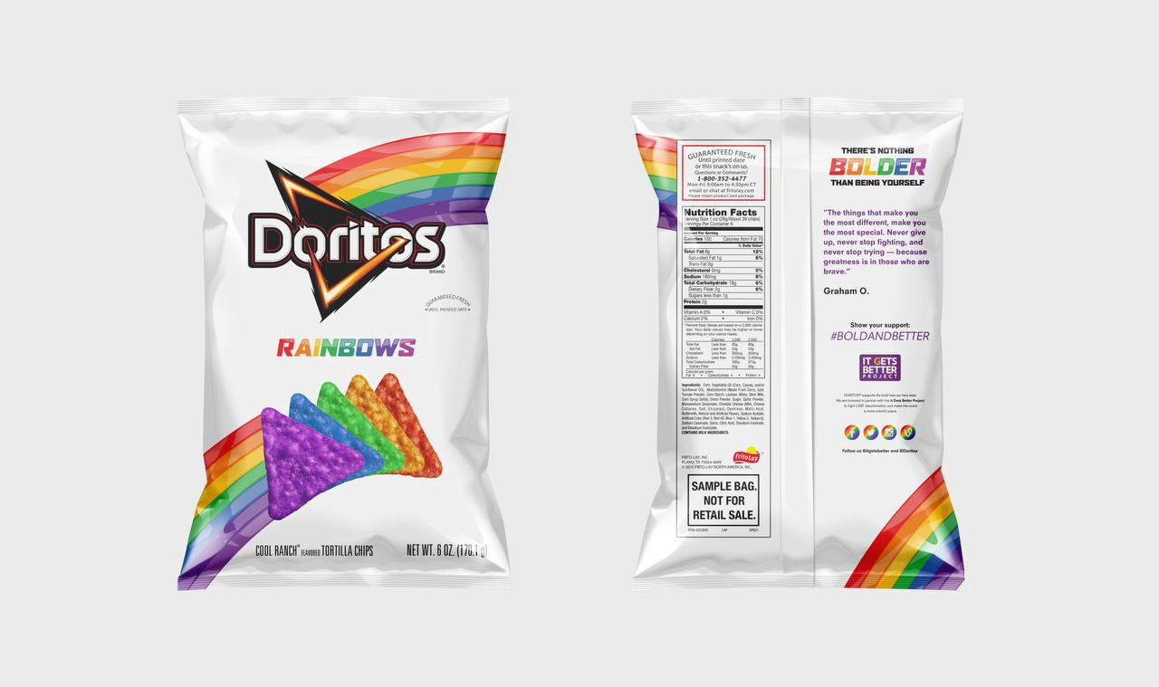 Frito-Lay launches rainbow chips to support LGBT people