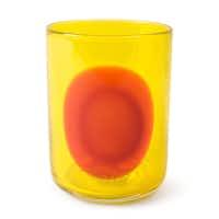 Hand-blown Dot glasses are dishwasher safe.