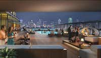 Uptown's skyline  will change with the addition of the 128-room Dream Hotel at McKinney and Bowen.(Dallas Uptown Hospitality)