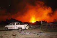 A fire burned at a fertilizer company in West after an explosion on April 17, 2013. (Michael Ainsworth/The Dallas Morning News)