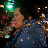 John Ehrenberger performs as Elvis Presley impersonator Johnny Rockit at El Ranchito restaurant Wednesday, January 8, 2014 in Dallas. For the last decade, the Oak Cliff eatery has spent the month of January hosting various Elvis-related performances.