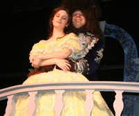 """Belle (sophomore Emily McIntyre) finds the """"beauty"""" in the Beast"""