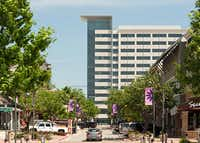 The 12-story Encana Oil & Gas building in Plano has been open about a year.