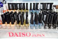 The new Carrollton store will feature such items as Japanese-made nail polish. About 99 percent of Daiso Japan's products are its own private brands. The store, which had sales of $3 billion last year, sells 10,000 products in just about every household category.(Brandon Wade - Special Contributor)