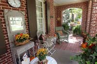 The porch of the home of Sharon and Richard Hagen in the Tucker Hill development in McKinney.