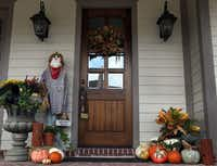The porch of the home of John and Julie Peek