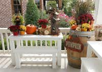The porch at the home of Carl and Michelle Martin