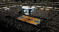 A look at the crowd from the upper press box during the watch party at the American Airlines Center in Dallas for Game Six of the NBA Finals between the Dallas Mavericks and the Miami Heat in Miami on Sunday, June 12, 2011.