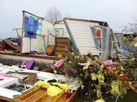 A destroyed home in Farmersville (Valerie Wigglesworth/TDMN)