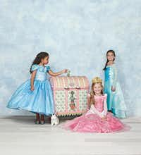 The Neiman Marcus His & Hers fantasy gift is for children this year. That's a first. Each personalized MacKenzie-Childs trunk holds a selection of Chasing Fireflies Ultimate Collection of costumes.