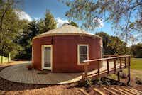 Unique Floyd lodging includes Hotel Floyd, an art gallery, local farms and Yurt Lodging's new family-sized yurt.courtesy of Floyd Yurt Lodging -  Floyd Yurt Lodging