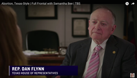 """Rep. Dan Flynn, R-Canton, appeared on an episode of """"Full Frontal with Samantha Bee"""" on TBS on Monday."""