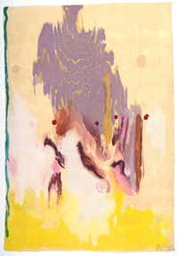 Geisha (2003, 23-color Urkiyo-style woodcut) by Helen Frankenthaler is delicately lovely yet highly evocative.