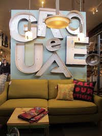 Vintage and mid-century modern home furnishings and accessories are sold at Red, a home decor store in Fredericksburg, Texas.