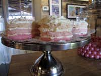 At The Pink Pig in Fredericksburg, Texas, chef-owner Rebecca Rather's pink theme carries through to some desserts.