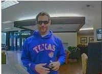 Surveillance footage of a man police say attempted to rob a Fort Worth bank on Wednesday.