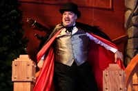 Randy Pearlman performs as Felix Geisel during the Ken Ludwig's The Game's Afoot, or Holmes for the Holidays performance on December 12, 2013 at WaterTower Theatre in Addison.