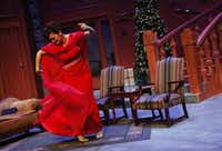 Sherry Hopkins performs as Daria Chase during the Ken Ludwig's The Game's Afoot, or Holmes for the Holidays performance on December 12, 2013 at WaterTower Theatre in Addison.