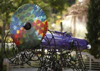 Visitors can gaze through this kaleidoscope created by San Diego artist Steve Riggs at the new Rory Meyers Children's Adventure Garden at the Dallas Arboretum and Botanical Garden.
