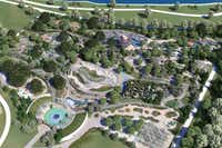 This rendering shows an aerial view of the Dallas Arboretum's new Rory Meyers Children's Adventure Garden.