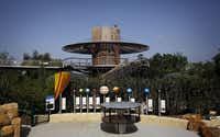 """A solar system model is part of the of """"Earth Cycles"""" section of the Dallas Arboretum's new Rory Meyers Children's Adventure Garden."""